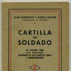 Militaria: LIBRO - CARTILLA DEL SOLDADO 1945. Lote 36621138