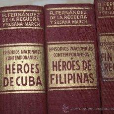 Militaria: EPISODIOS NACIONALES CONTEMPORANEOS 1O VOLUMENES. Lote 36752510