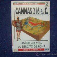 Militaria: EJERCITOS Y BATALLAS: Nº 55 - CANNAS 216 A.C. Lote 218432861