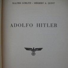 Militaria: II GUERRA MUNDIAL ADOLF HITLER 1º EDICION 1955 - WALTER GORLITZ LUIS DE CARALT FOTOS TAPAS DURAS. Lote 36938842