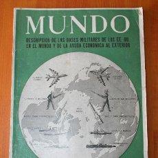 Militaria: REVISTA ANTIGUA - MUNDO NUMERO ESPECIAL - BASES MILITARES DE LOS EE UU EN EL MUNDO - 1959 . Lote 37536168