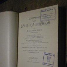 Conferencia sobre balística interior, 1937, 764 páginas.