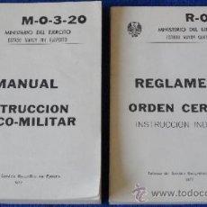 Militaria: INSTRUCCIÓN FÍSICO MILITAR - REGLAMENTO DE ORDEN INTERNO - MINISTERIO DEL EJÉRCITO (1977). Lote 38715871