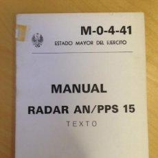 Militaria: MANUAL RADAR AN/PPS 15. LIBRO DE TEXTO. 182 PAG. Lote 38778865