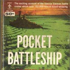 Militaria: ADMIRAL SCHEER POCKECT BATTLESHIP ,INGLES 1958,LA HISTORIA DE ESTE ACORAZADO ALEMAN. Lote 39125849