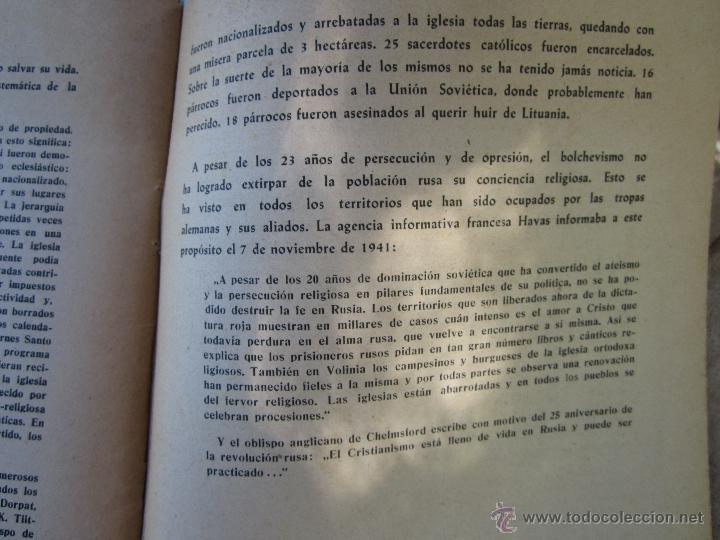 Militaria: DIOS ENTRE LOS BOLCHEVIQUES , 1941 - Foto 19 - 39353789