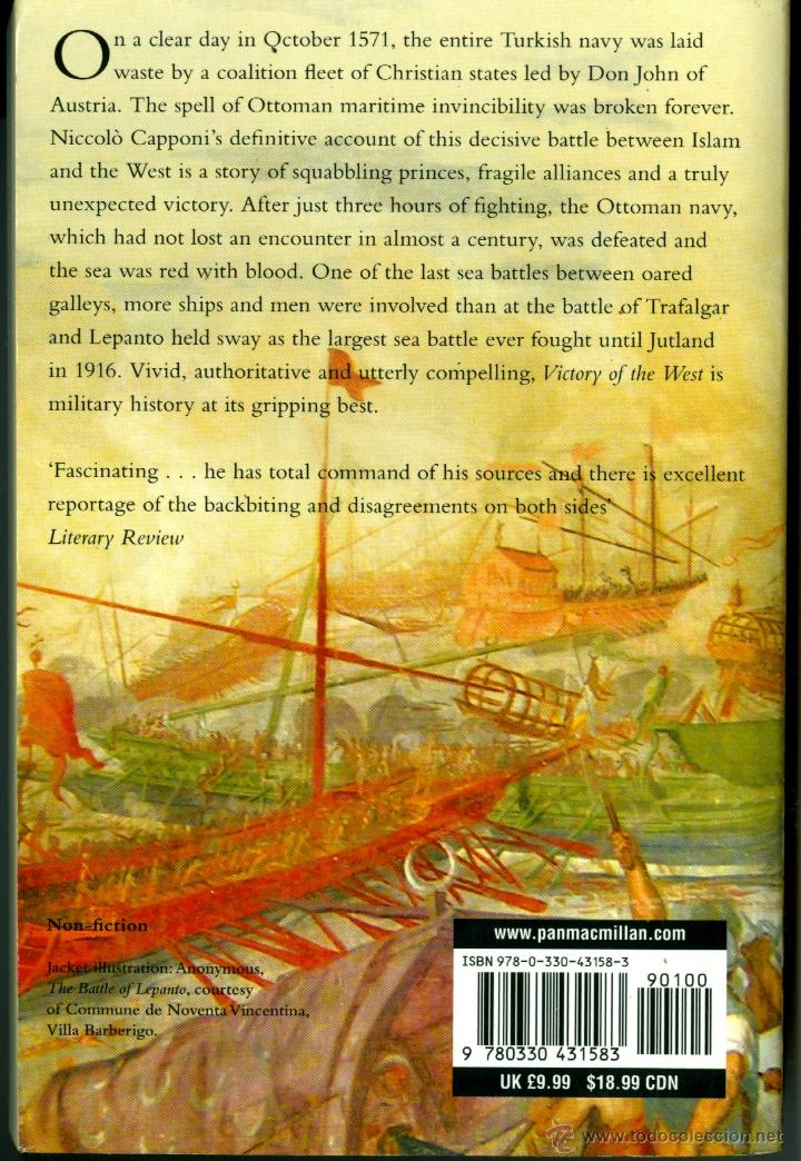 Militaria: VICTORY OF THE WEST, THE STORY OF THE BATTLE OF LEPANTO - NICCOLÒ CAPPONI - Foto 2 - 39418321
