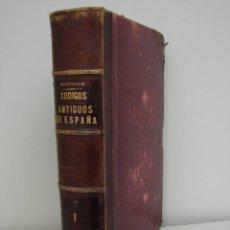 Militaria: CODIGOS ANTIGUOS DE ESPAÑA. MARCELO MARTINEZ ALCUBILLA. 1885. TOMO 1. Lote 40015621