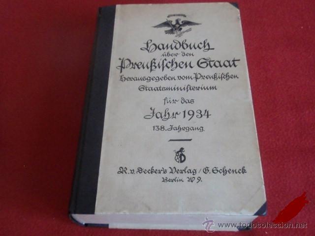 LIBRO SECRETARIA DE ESTADO CON FIRMA AUTENTICA DE HERMANN GORING (Militar - Libros y Literatura Militar)