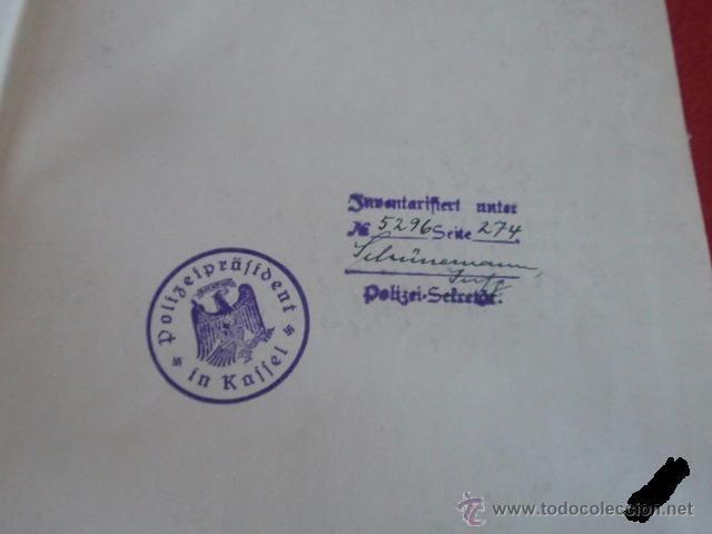Militaria: LIBRO SECRETARIA DE ESTADO CON FIRMA AUTENTICA DE HERMANN GORING - Foto 2 - 39992344