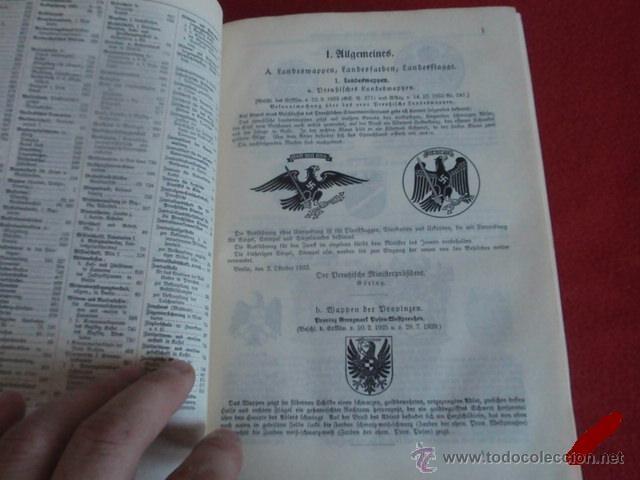 Militaria: LIBRO SECRETARIA DE ESTADO CON FIRMA AUTENTICA DE HERMANN GORING - Foto 6 - 39992344