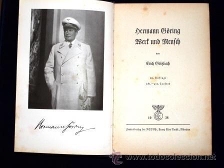 Militaria: LIBRO SECRETARIA DE ESTADO CON FIRMA AUTENTICA DE HERMANN GORING - Foto 8 - 39992344