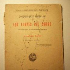 Militaria: LAS LLAVES DEL CAMPO. COMANDANTE MORELLE. BARCELONA, 1906. 46 PP. PLANOS DESPLEGABLES.. Lote 40030022
