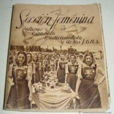 Militaria: ANTIGUO LIBRO CALENDARIO DE 1940 DE LA SECCIÓN FEMENINA (FET DE LAS JONS.) - FALANGE FRANCO Y PRIMO . Lote 38257552