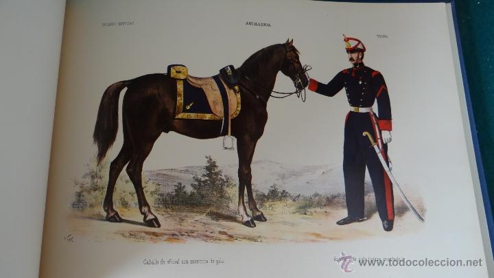 ALBUM DE LA ARTILLERIA ESPAÑOLA 1862 - REEDICION 1972 - EDICION LIMITADA - (Militar - Libros y Literatura Militar)