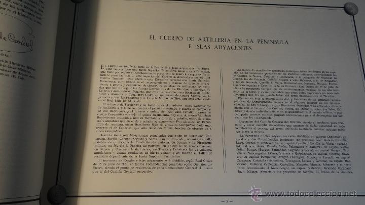 Militaria: ALBUM DE LA ARTILLERIA ESPAÑOLA 1862 - REEDICION 1972 - EDICION LIMITADA - - Foto 6 - 40890369