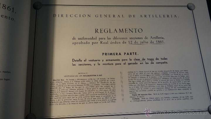Militaria: ALBUM DE LA ARTILLERIA ESPAÑOLA 1862 - REEDICION 1972 - EDICION LIMITADA - - Foto 7 - 40890369