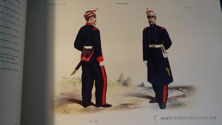 Militaria: ALBUM DE LA ARTILLERIA ESPAÑOLA 1862 - REEDICION 1972 - EDICION LIMITADA - - Foto 8 - 40890369