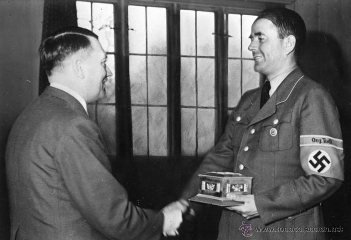 Militaria: DIARIO DE ALBERT SPEER 1975 CON SU FIRMA ORIGINAL - Foto 3 - 56359836