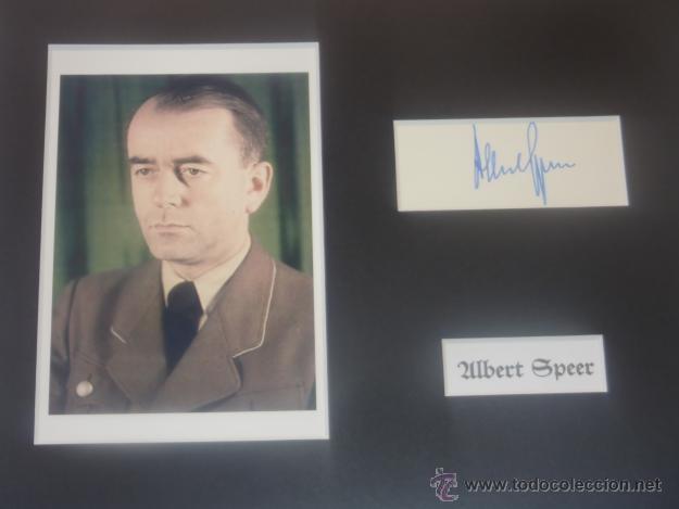 Militaria: DIARIO DE ALBERT SPEER 1975 CON SU FIRMA ORIGINAL - Foto 4 - 56359836