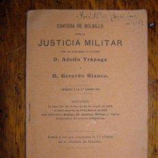 Militaria: CARTERA DE BOLSILLO PARA LA JUSTICIA MILITAR- MADRID 1919 -. Lote 40299792