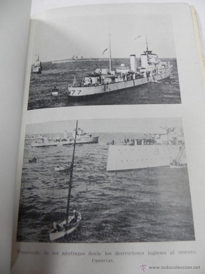 Militaria: LIBRO CRUCERO BALEARES 1936-1938. Manuel Cervera, Ricardo Chereguini y Carlos Arriaga. Madrid 1948 - - Foto 2 - 40442669
