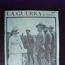 Militaria: LA GUERRA EN FEBRERO DE 1918 EDITADO EN LONDRES EN CASTELLANO CON MAPAS. Lote 40484693