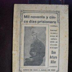 Militaria: 1927 GUERRA DE MARRUECOS MIL NOVENTA Y CINCO DÍAS PRISIONERO NO EN CCPB. Lote 40501390