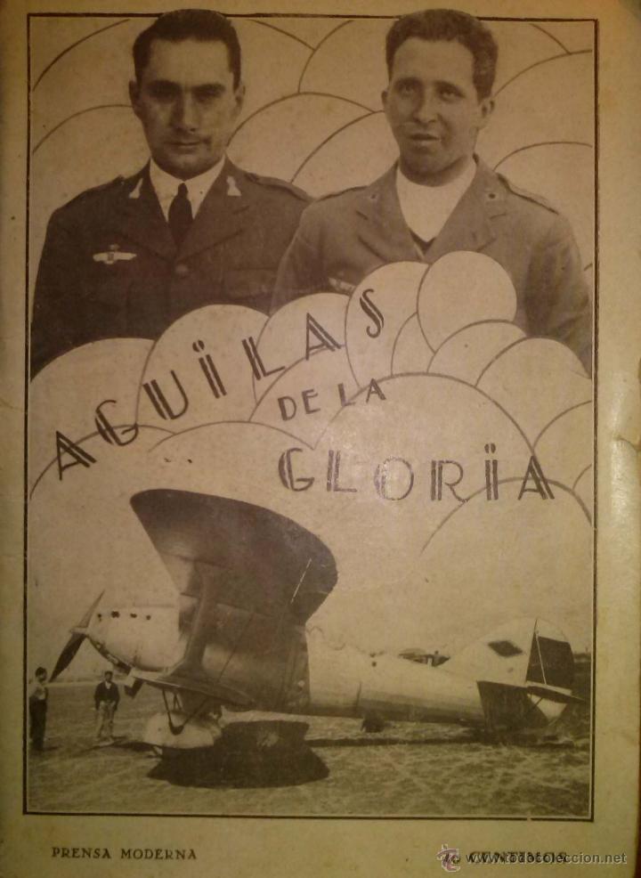 RARISIMO AGUILAS DE LA GLORIA RECORD DEL JESUS DEL GRAN PODER AVIACION 1929 (Militar - Libros y Literatura Militar)