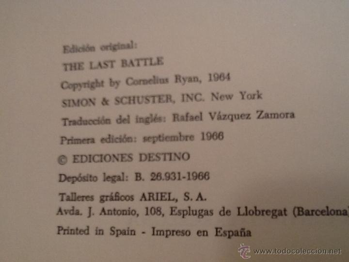 Militaria: La última batalla de ediciones destino. Primera edición 1966. - Foto 6 - 41027958