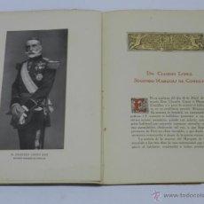 Militaria: EL MARQUES DE COMILLAS - CON FIRMA Y DE DICATORIA MANUSCRITA DE MIGUEL DE ASUA (AUTOR) - AÑO 1926 - . Lote 41434348