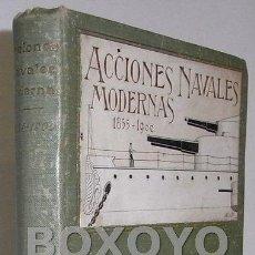 Militaria: SALAS, JAVIER DE. ACCIONES NAVALES MODERNAS (1855-1900). COMPENDIO HISTÓRICO CON 18 PLANOS.. Lote 42231507