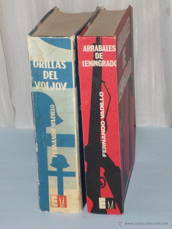 Militaria: DOS LIBROS SOBRE LA DIVISIÓN AZUL: ORILLAS DEL VOLJOV / ARRABALES DE LENINGRADO. - Foto 2 - 42554365