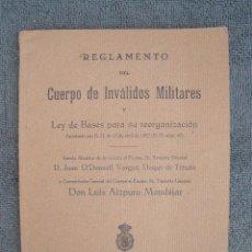 Militaria: REGLAMENTO DEL CUERPO DE INVALIDOS MILITARES. APROBADO PO R. D. EL 13 DE ABRIL DE 1927. . Lote 42597956