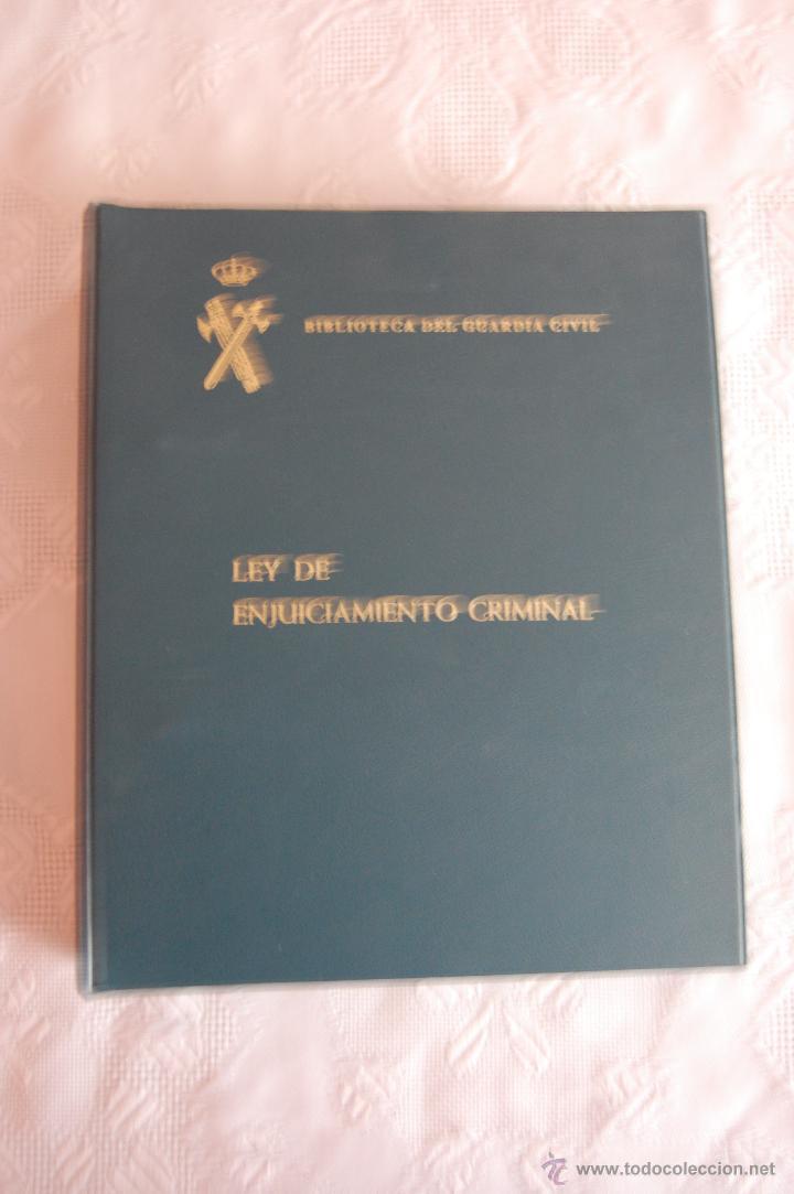 BIBLIOTECA DEL GUARDIA CIVIL. LEY DE ENJUICIAMIENTO CRIMINAL (1992). (Militar - Libros y Literatura Militar)
