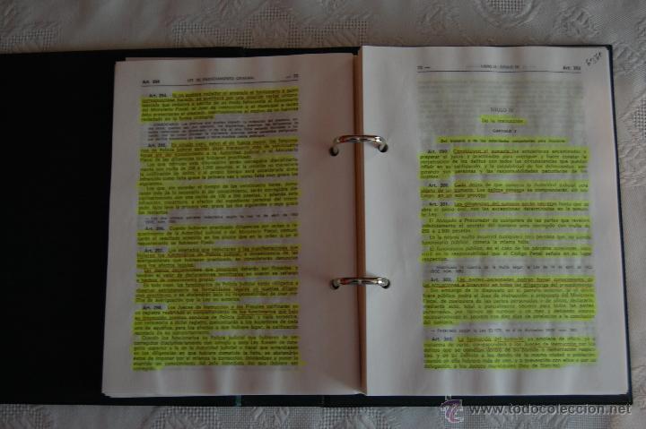 Militaria: BIBLIOTECA DEL GUARDIA CIVIL. LEY DE ENJUICIAMIENTO CRIMINAL (1992). - Foto 3 - 42898808