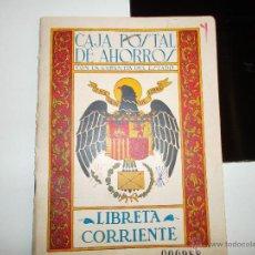 Militaria: LIBRETA CORRIENTE DE LA CAJA POSTAL DE AHORRO. Lote 43400369