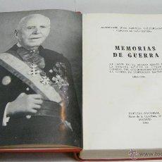 Militaria: MEMORIAS DE GUERRA. ALMIRANTE JUAN CERVERA. 1968.. Lote 44088866
