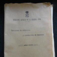 Militaria: DIRECCION GENERAL DE LA GUARDIA CIVIL. SERVICIOS DE DETENCION Y CONDUCCION DE MENORES. TALLER ESCUEL. Lote 44342713