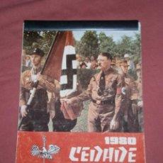 Militaria: CALENDARIO CEDADE 1980 EXTREMA DERECHA ESPAÑOLA HITLER. Lote 44345186