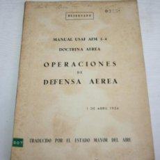 Militaria: LOTE DE 3 LIBROS ANTIGUOS MILITARES - ESCUELA DE GUERRA, DEFENSA AEREA, MANUAL DE TELEGRAFIA MILITAR. Lote 44479120