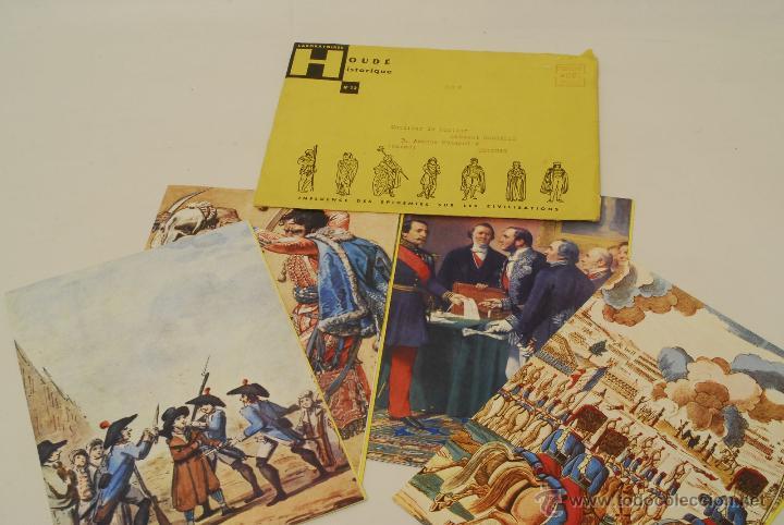 4 FOLLETOS PUBLICITARIOS DE MEDICINAS SOBRE LAS EPIDEMIAS. LABORATORIES HOUDÉ HISTORIQUE. (Militar - Libros y Literatura Militar)