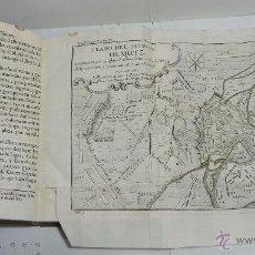 Militaria: TOMO IV. HISTORIA DE LAS OPERACIONES MILITARES DURANTE LA GUERRA DE 1756. LAMINAS EXTENSIBLES. 1760. Lote 45268182