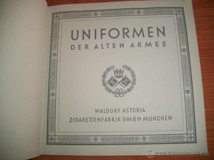 Militaria: COLECCIONISTAS: ANTIGUO ALBUM UNIFORMEN DER ALTEN ARMEE - WALDORF ASTORIA - Foto 2 - 45661612