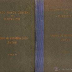 Militaria: ESTADO MAYOR CENTRAL DEL EJÉRCITO. CENTRO DE ESTUDIOS PARA JEFES. 2 TOMOS. Lote 45711173