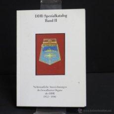 Militaria: CATÁLOGO ESPECIAL DE INSIGNIAS DE LA RDA. NO.: II. 1949 – 1990.. Lote 45799442