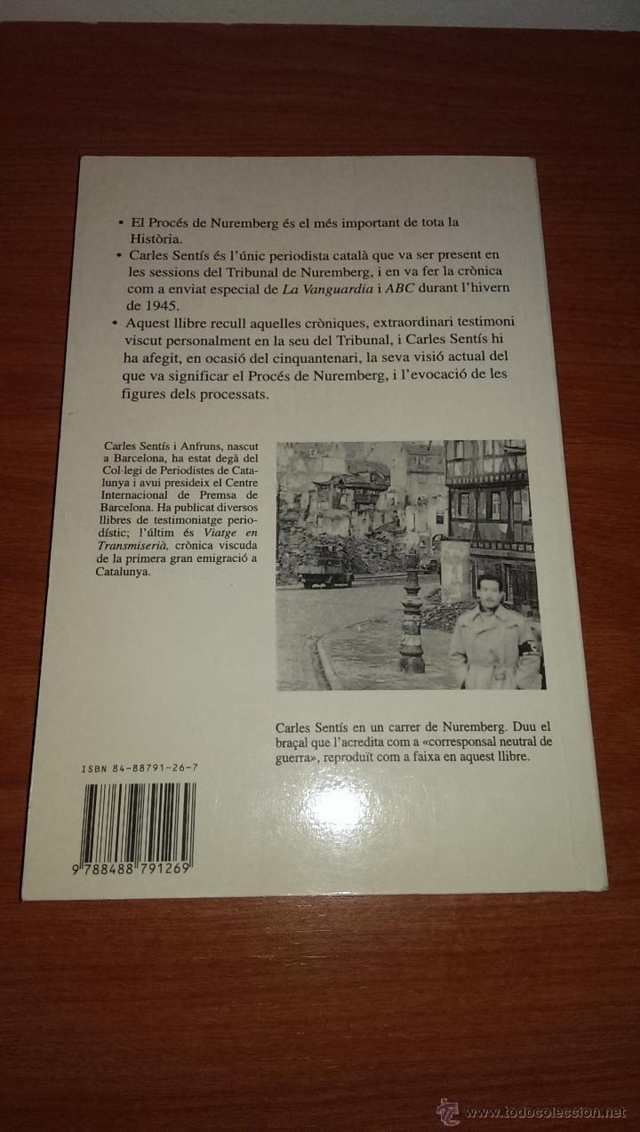 EL PROCÉS DE NUREMBERG VISCUT PER CARLES SENTÍS (Militar - Libros y Literatura Militar)