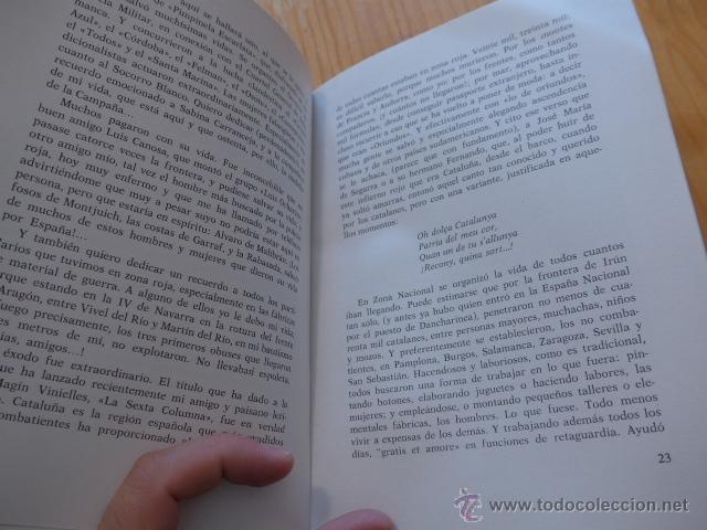 Militaria: Libro La aportacion catalanes a guerra liberacion. Guerra civil y Division Azul. 1975 - Foto 6 - 45898764