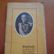 Militaria: LIBRO OPUSCULO DEL GENERAL D. JOSE MARIA CASANOVAS - CONDE DE ALGAIDA - 1920 BIBLIOTECA NACIONAL. Lote 45992873