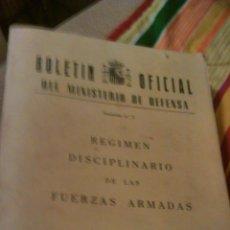 Militaria: RÉGIMEN DISCIPLINARIO DE LAS FUERZAS ARMADAS. BOLETÍN OFICIAL DEL MINISTERIO DE DEFENSA.1986. Lote 46032250